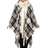 Dress Grey Stewart Tartan Pure Merino Wool Cape