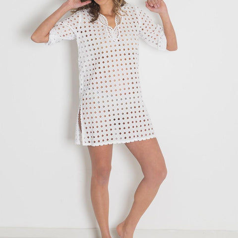 Broderie Anglaise Cotton Cover Up
