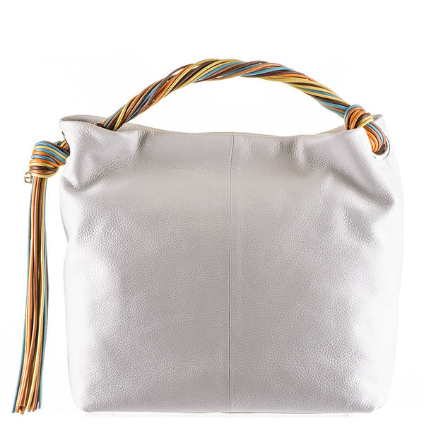 White Calf Leather Tote
