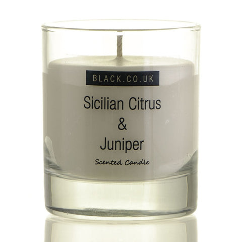 Sicilian Citrus and Juniper Scented Candle - Clear Glass