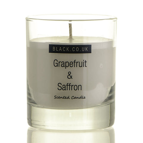 Grapefruit and Saffron Scented Candle - Clear Glass