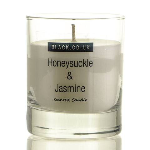 Honeysuckle and Jasmine Scented Candle - Clear Glass