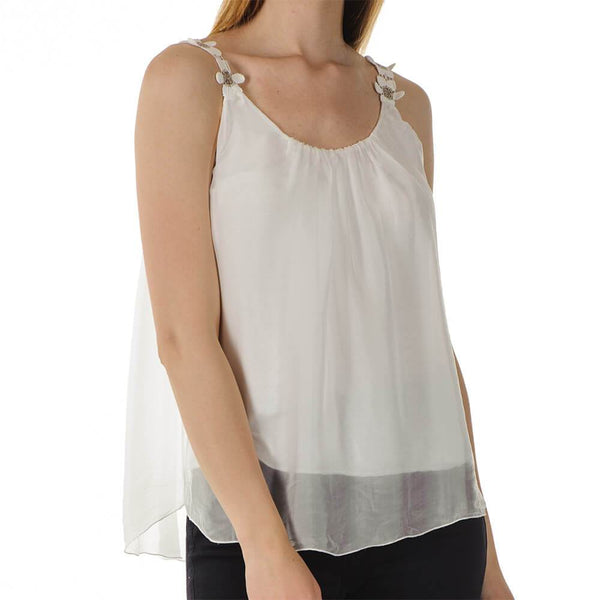 Daisy - White Silk Sun Top