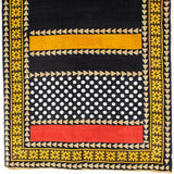 Elma - Black and Gold Silk Scarf