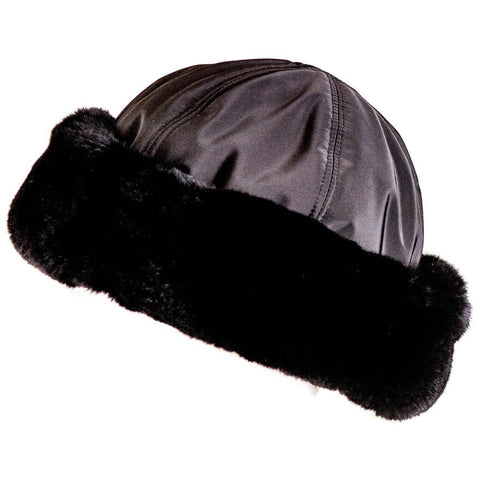 Black Rabbit Fur Hat