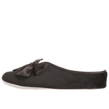 Ladies Black Velvet Mule Slippers