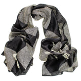 Nera - Black and White Silk Scarf
