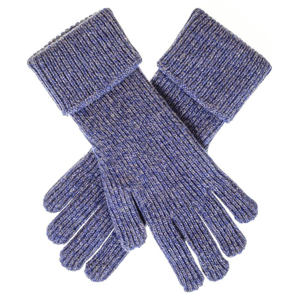 Ladies Blue Marl Cashmere Gloves