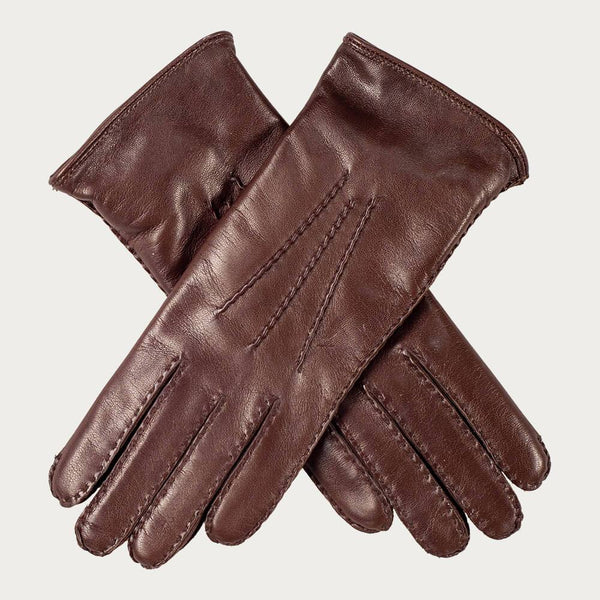 Ladies Cashmere Lined Tan leather Gloves