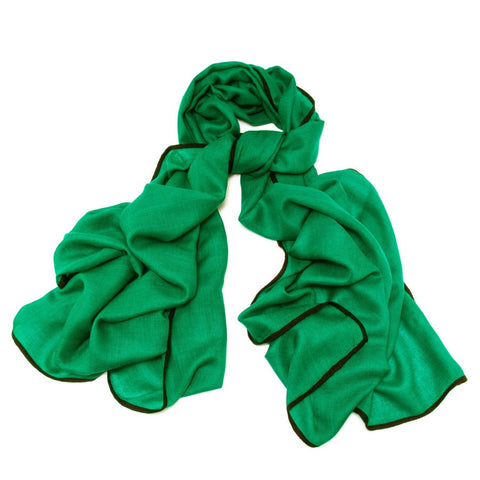 Fulton Green and Black Cashmere and Silk Scarf