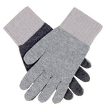 Triple Tone Grey and Taupe Cashmere Gloves