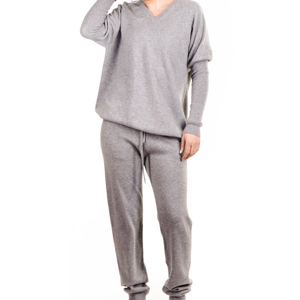 Grey Cashmere Leisure Suit