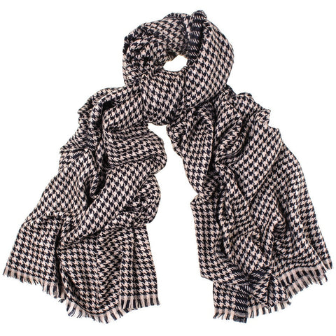 Houndstooth Cashmere Shawl