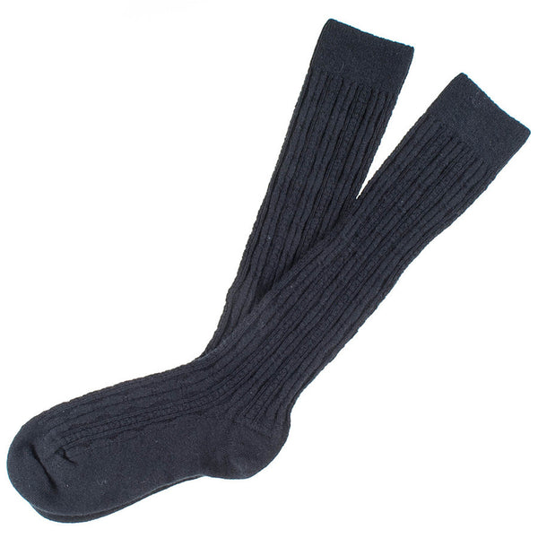 Ladies Long Black Cashmere Socks