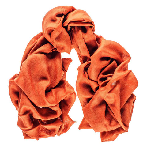 Burnt Orange Cashmere and Silk Wrap