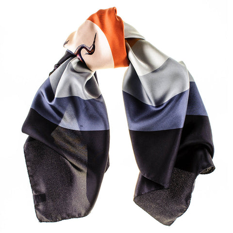 'The Wading Bird' Italian Silk Square Scarf