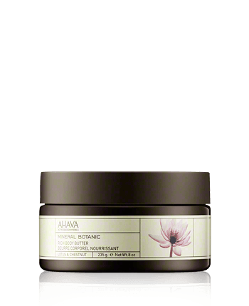 AHAVA Mineral Botanic Rich Body Butter Lotus and Chestnut
