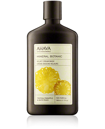 AHAVA Mineral Botanic Velvet Cream Wash Pineapple and White Peach