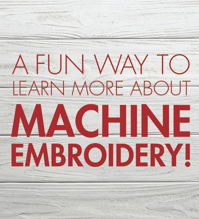 Ever wanted to learn more about machine embroidery?