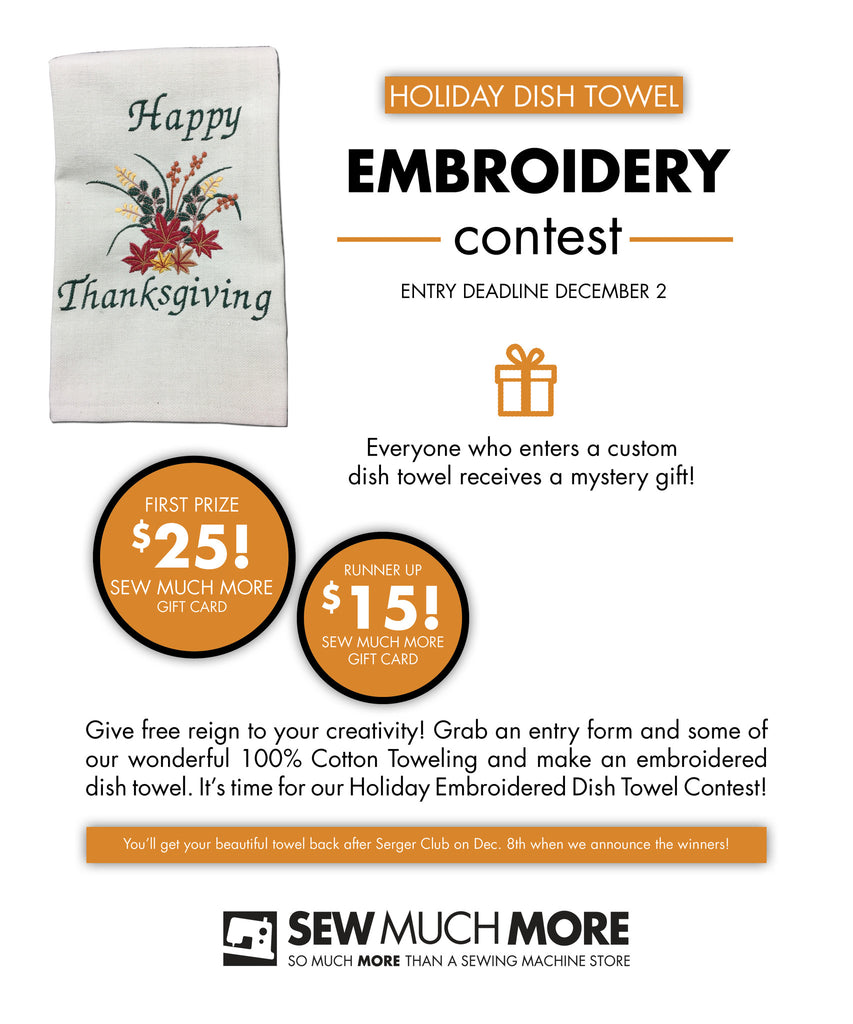 Holiday Dish Towel Embroidery Contest