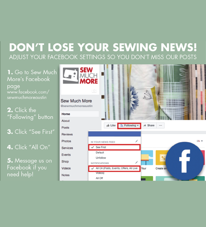 Don't Lose Your Sewing News!
