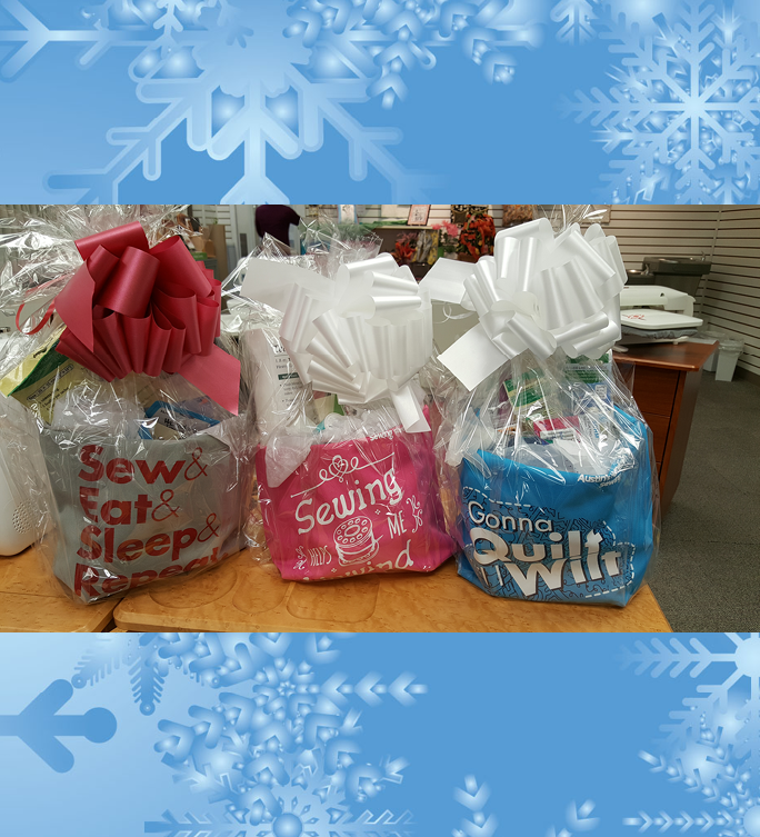 Holiday Gift Baskets - Sewing, Quilting and Embroidery