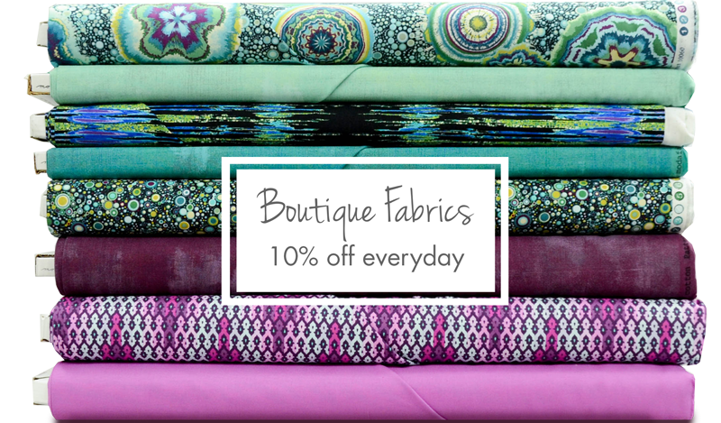 10% off our Boutique Fabrics Everyday