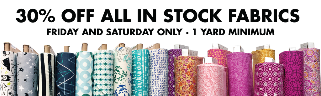 Fabric sale 30% off