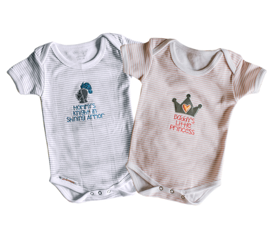 Kimberbell Exclusives: Princess & Knight Infant Rompers