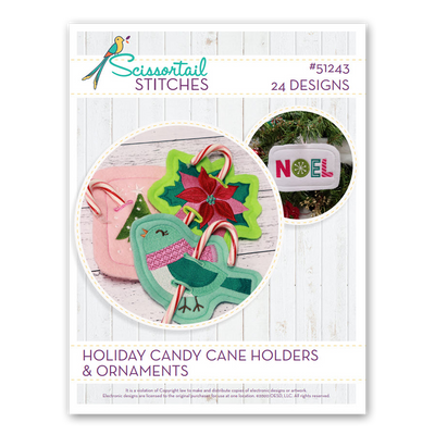 Holiday Candy Cane Holders & Ornaments - Scissortail Stitches