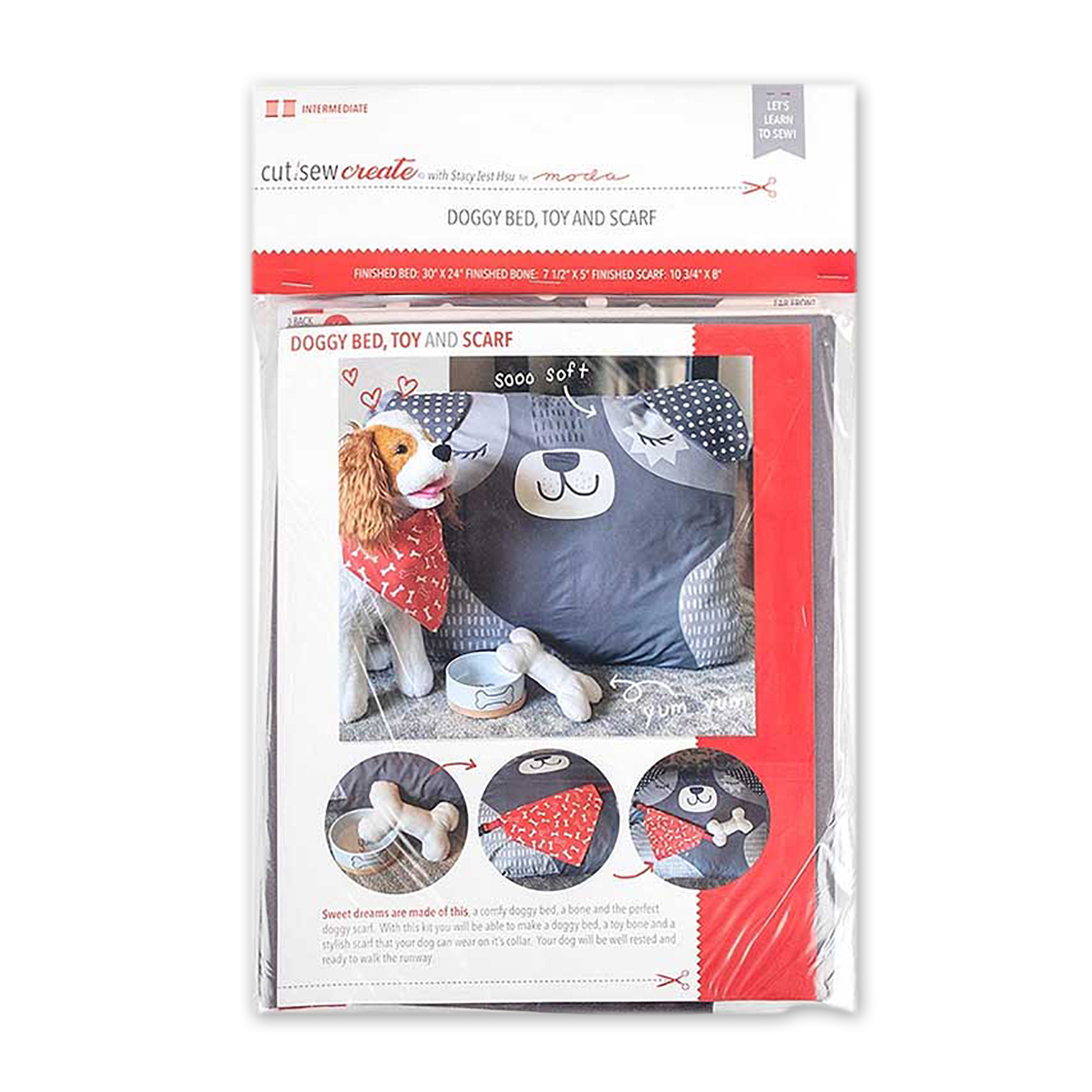 Doggy Bed, Toy & Scarf Kit by Moda
