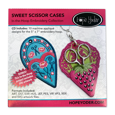 """Sweet Scissor Cases"" Embroidery Design CD by Hope Yoder"