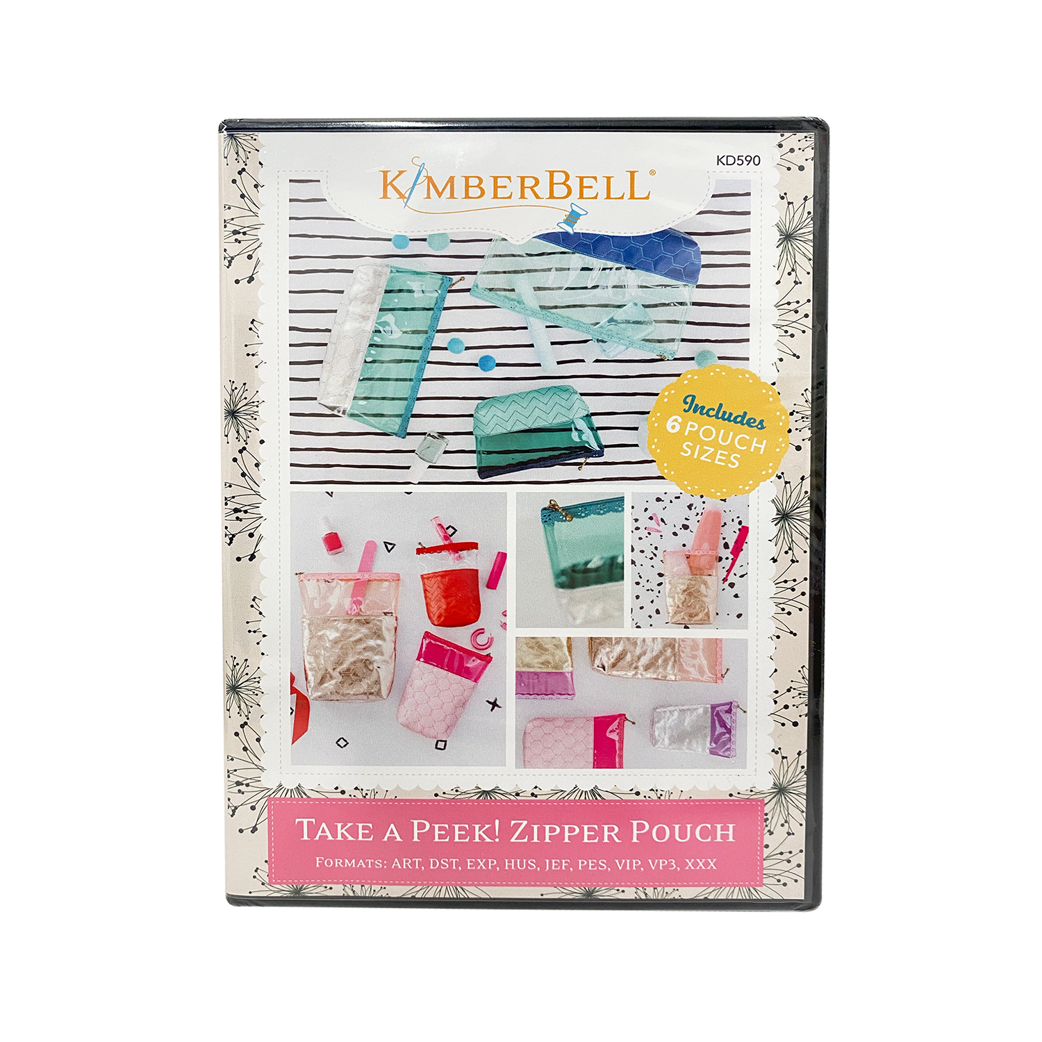 Kimberbell: Take a Peek! Zipper Pouches