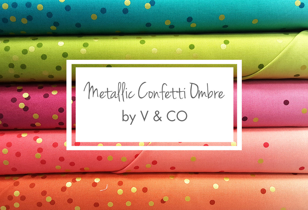 Metallic Confetti Ombre by V & CO