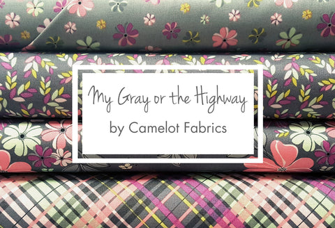 My Gray or the Highway by Camelot Fabrics