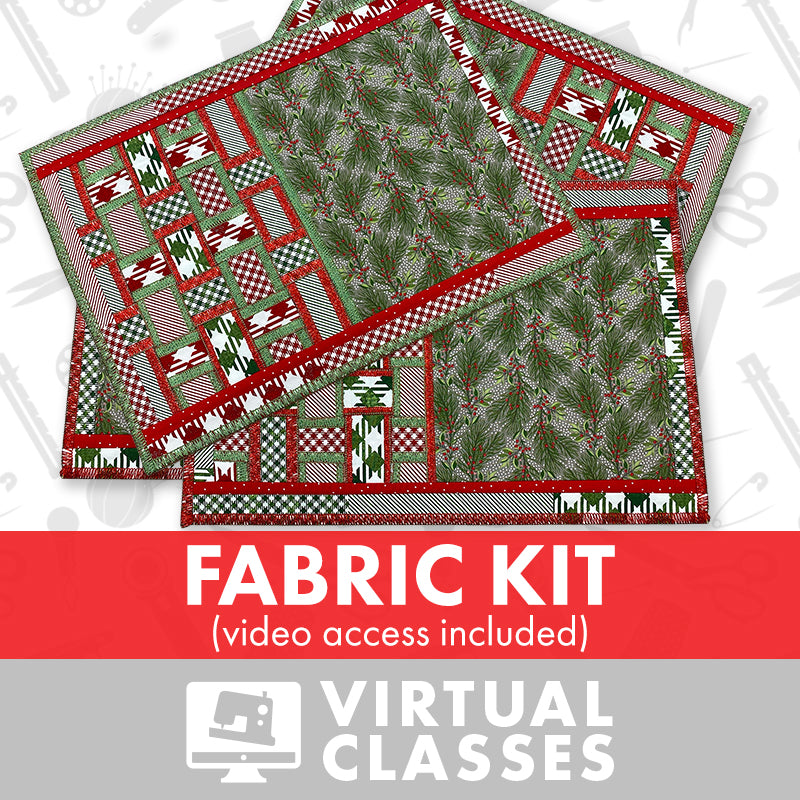 Virtual Class: Serger Placemats - Fabric Kit (Video Access Included)