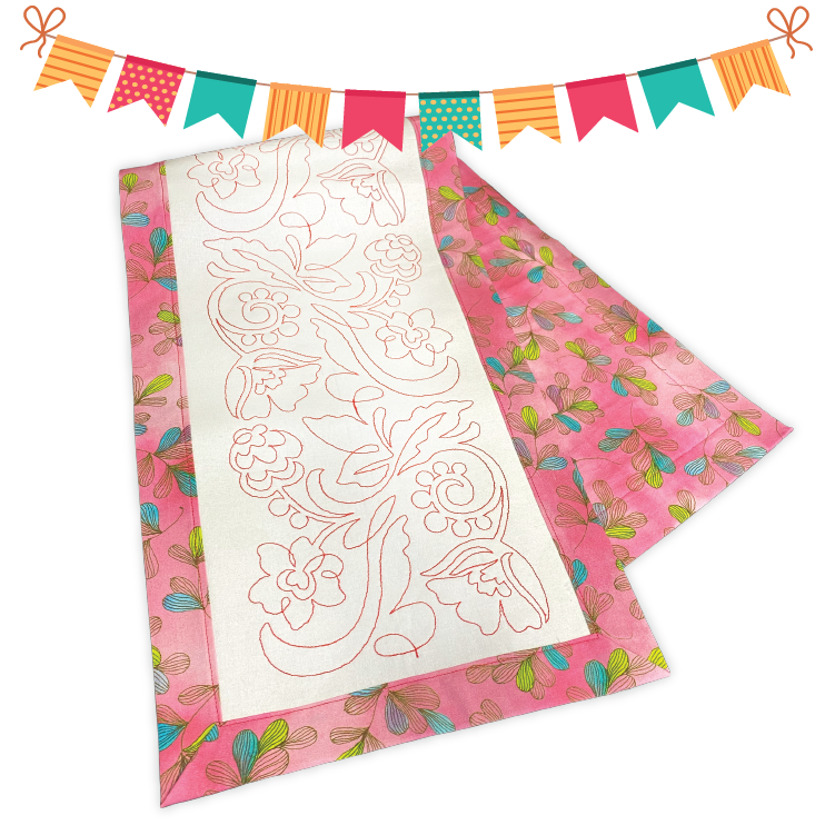 Floral Quilting Table Runner Class