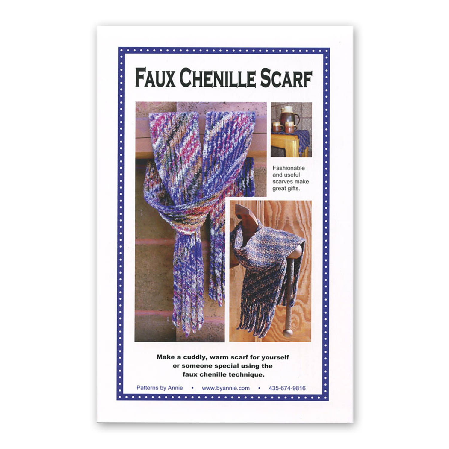 Faux Chenille Scarf Pattern by Patterns by Annie