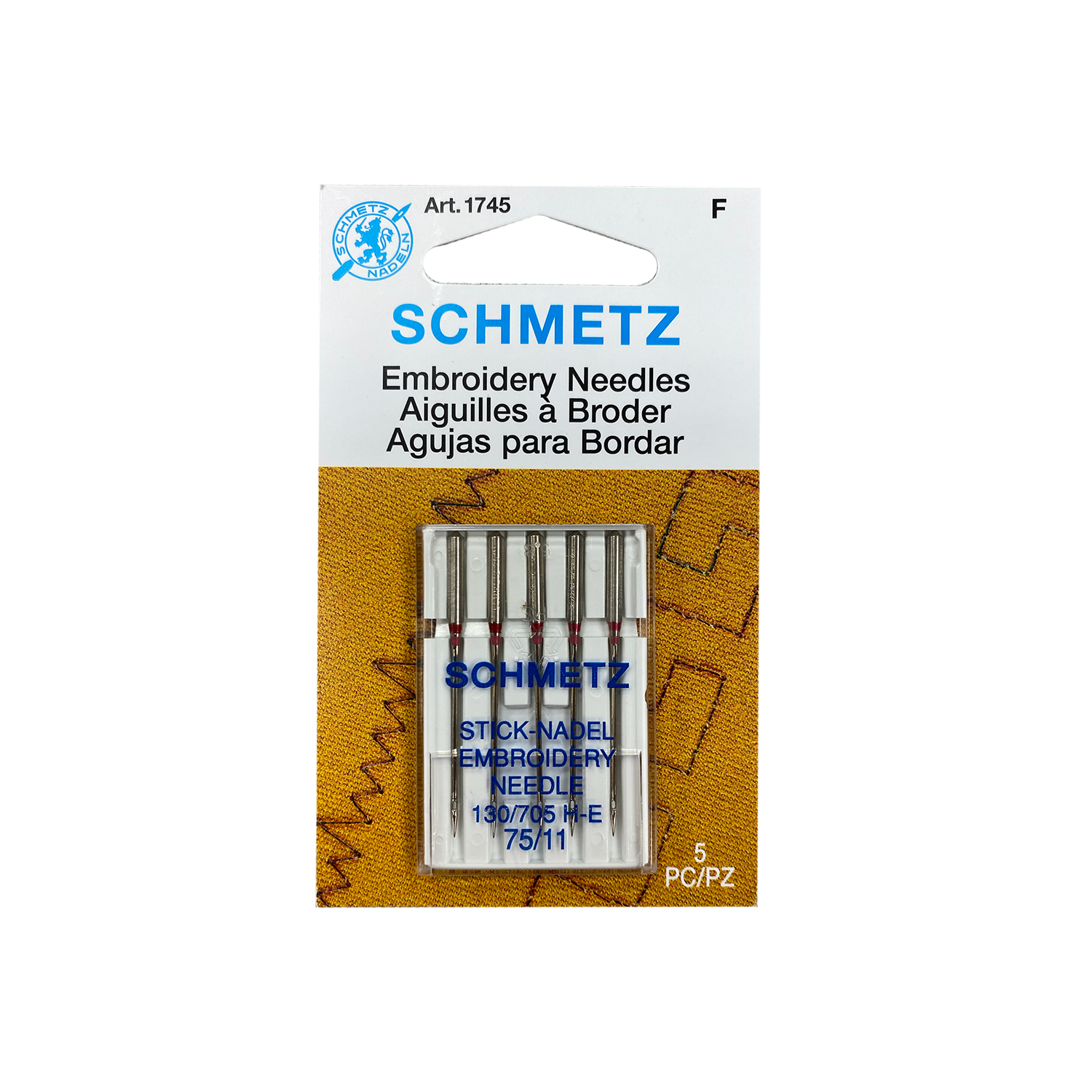 Schmetz Embroidery Needles 75/11