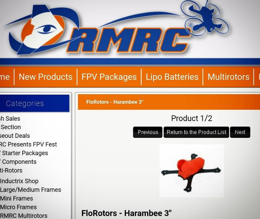 FloRotoRs Frames on RMRC and PiroFlipRC !