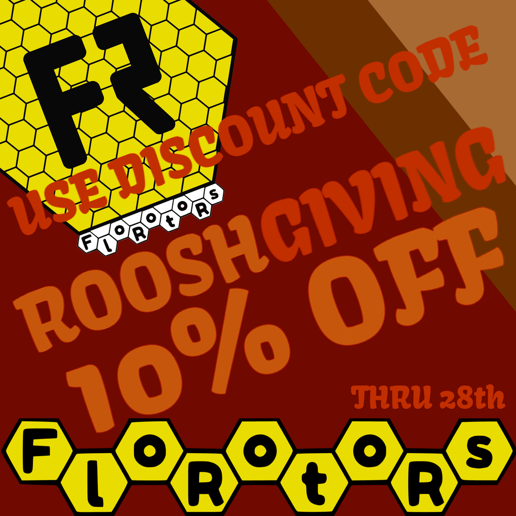 Happy ROOSHGIVING! Take 10% off all orders until Nov. 28th with discount code ROOSHGIVING