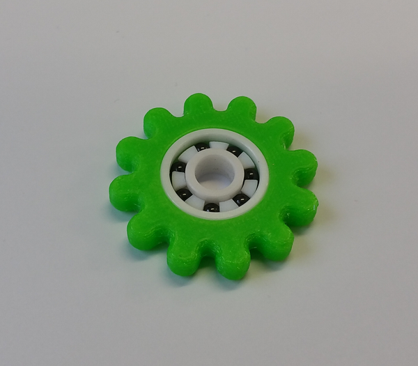 FloBeez Massaging Spinner - TPU - Screwless Sunflower