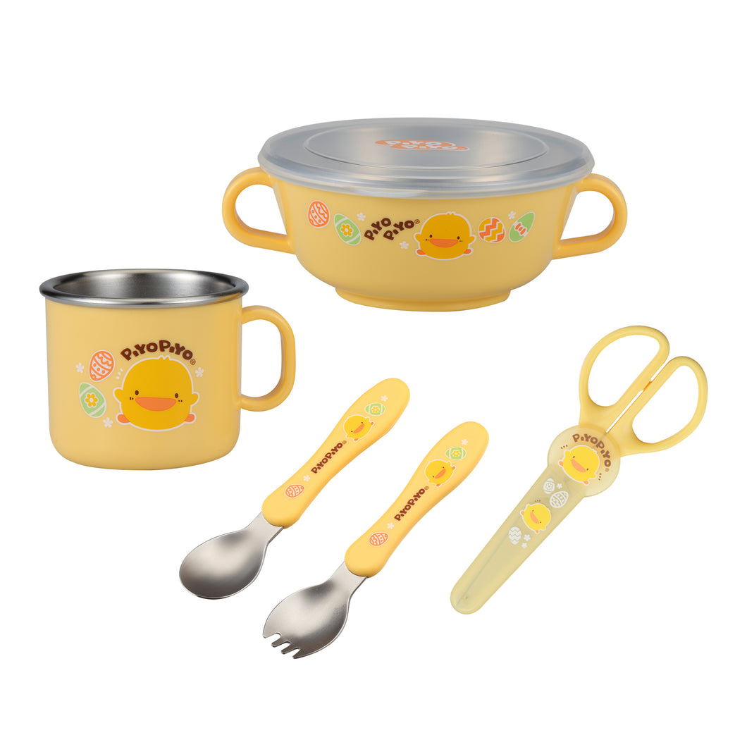 Stainless Steel Tableware Set - Piyopiyo Canada