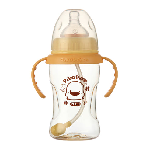 PPSU Nursing Bottle with Training Grip - Piyopiyo Canada