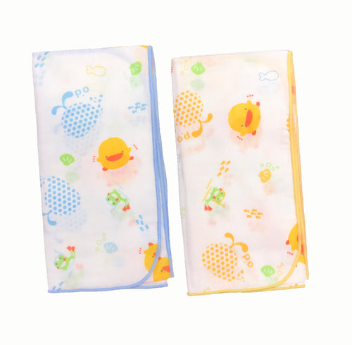 100% Cotton Wash Cloth 2pcs - Piyopiyo Canada