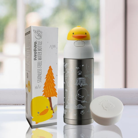 Ultra-Light Stainless Steel Water Bottle 260ml - Piyopiyo Canada