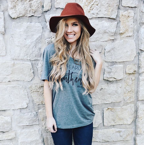 Be Fearlessly Authentic Slouchy Tee