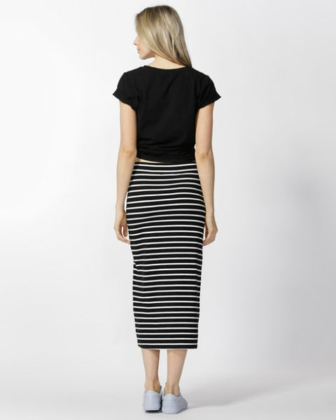 Betty Basics  GIGI SKIRT  black/ivory - the clothing edit