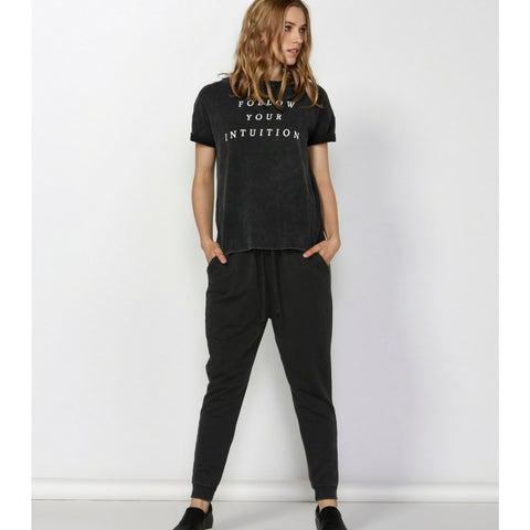 Betty Basics  ZANE LOUNGE PANT  washed black - the clothing edit
