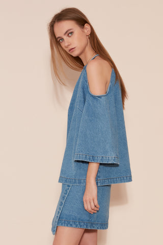 The Fifth Label BACK STREETS TOP blue steel - the clothing edit